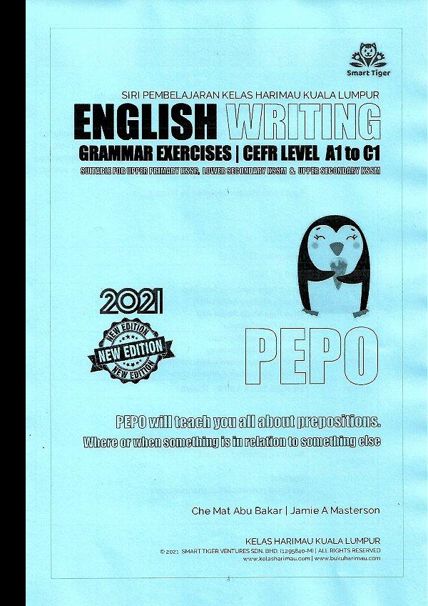 English Writing Grammar Exercises Series - PEPO The Penguin
