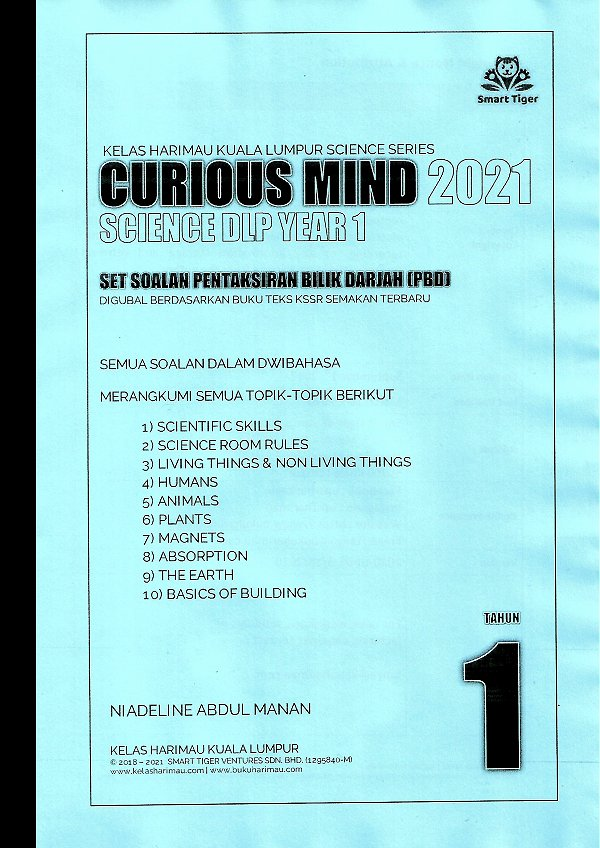 Smart Tiger Science DLP Curious Mind Tahun 1/2021